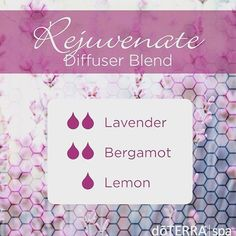 #Rejuvenate smells amazing!! This diffuser blend provides a calming and soothing aroma with a hint of lemon to uplift your mood. Diffuse when stress or tensions are high or use at bedtime to promote a sense of calm and harmony! Tell me what you think! What are you diffusing?