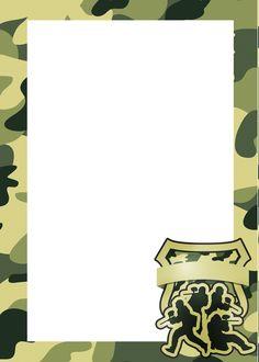 Convite, Cartão ou Moldura Kit Militar Camuflado