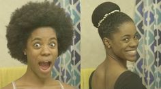 Creating A Ballerina Bun Using A Hairnet, A Stocking And A Scarf Read the article here - www.blackhairinfo...