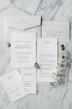 A simple semi-custom wedding invitation suite design with classic typefaces for a timeless and traditional look. Letterpress, foil, and flat printing available. by Gatherie Creative | Photography & Styling by Cassandra Monroe