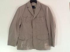 "Daniel Hechter Men's Designer Coat Jacket Blazer EU48 S/M Chest 44"" Taupe Beige #DanielHechter #BasicCoat"