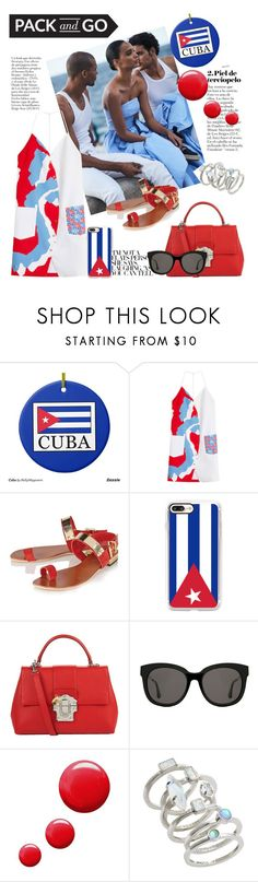 """Take me to Cuba!"" by anilia ❤ liked on Polyvore featuring Kenzo, Lipsy, Casetify, Dolce&Gabbana, Gentle Monster, Topshop, Kendra Scott and Packandgo"