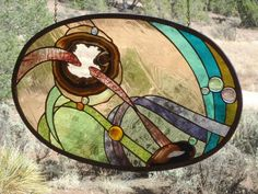 """stained glass window hanging""""OUTSIDE THE BOX"""" hand blown antique glass, handpoured & rolled drapery glass,Brazilian agates,hand poured glass Stained Glass Crafts, Stained Glass Patterns, Stained Glass Panels, Leaded Glass, Rio Grande, Baroque, L'art Du Vitrail, Art Rupestre, Window Panels"""