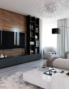 amazing tv wall design ideas for living room decor 14 ~ Beautiful House Lovers Cozy Living Room Design, Home Living Room, Room Design, Tv Wall Design, House Interior, Living Room Design Modern, Living Room Tv Unit Designs, Living Design, Living Room Tv