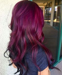 19 ombre hair with magenta to merlot colors - Styleoholic