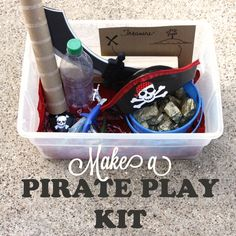 Make a Pirate Play Kit for 'Talk Like A Pirate Day'