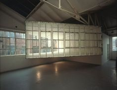 Richard Wilson 'She Came in Through the Bathroom Window', Matt's Gallery, London, 1989 Richard Wilson, Turner Prize, What A Beautiful World, Bathroom Windows, Interior Walls, Art And Architecture, Installation Art, How To Memorize Things, Sculptures