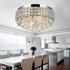Looking for a fabulous light in your room?Not only bringing in stylish and romantic feeling, but also gave sparkle to brilliant evenings at your house. Round Crystal Chandelier, Chandelier Lighting, Ceiling Lighting, Pendant Lamp, Chrome, Lounge, Led, Lights, Crystals