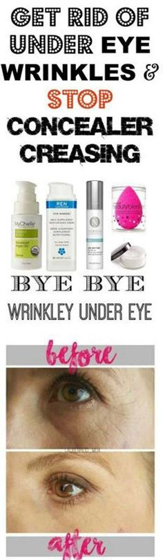 Makeup Tips That Make Wrinkles Vanish - Get Rid Of Under Eye Wrinkles And Stop Concealer Creasing - Make Up and Anti Aging Skin Care Home Remedies and Essential Oils - How To Get Faces To Look Years Younger - Skincare Products For Women to Combat Crows Ar #homemadewrinklecreamshowtomake #homemadewrinklecreamsskincare