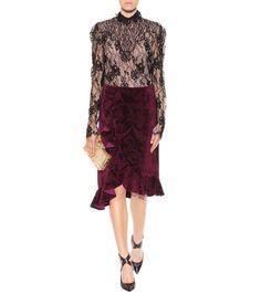 Aubergine velvet skirt