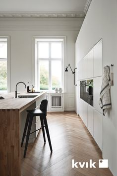 Scandinavian Kitchen Design Interior of the All White and Beautiful Tiny Kitchen - Home Ideaz Home Decor Kitchen, Kitchen Interior, Kitchen Design, Kitchen Modern, Unique Home Decor, Cheap Home Decor, Small Bathroom Furniture, Scandinavian Kitchen, Scandinavian Modern