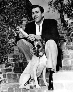 Howard Keel - and his handsome pal. This is a very good look for any fellow!