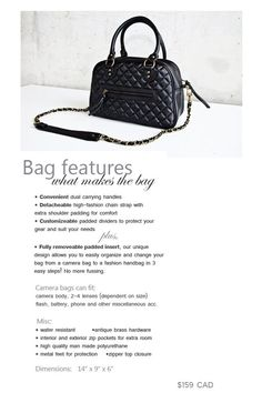 """A crazy beautiful camera bag!!! The bag is cute on it's own but I can carry my camera everywhere I go.......you can purchase ths bag @ www.lovetheit.com but also on you have the opportunity to win one at """"the daybook"""" sydney is having a giveaway sign up offer ends Feb. 22, 2011"""