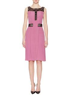 Embellished Silk Sheath Dress from Carolina Herrera on Gilt