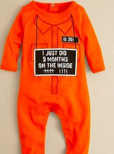 Newborn prison onesie