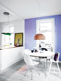 Hues of blue in a family home in Brønshøj - via cocolapinedesign.com