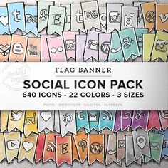 HUGE Social Icon Pack