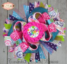 Best Friends Stacked Boutique Hair Bow