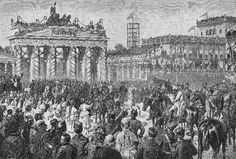 Wilhelm Camphausen - Parade through the Brandenburg Gate 1871