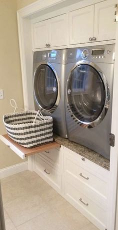 Affordable Diy Laundry Room Renovation Ideas On A Budget Laundry Room Organization, Laundry Room Design, Organized Laundry Rooms, Closet Laundry Rooms, Laundry Closet Makeover, Garage Laundry, Small Laundry, Laundry In Bathroom, Laundry In Kitchen