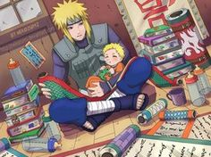 Naruto and Minato are the best ninja in Konoha village has ever had , okay we 'll see some pictures they both together Naruto Shippuden Sasuke, Anime Naruto, Boruto, Minato Y Naruto, Naruto Chibi, Fan Art Naruto, Comic Naruto, Naruto Cute, Otaku Anime