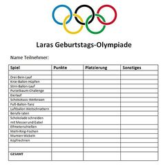 Olympiade-Tabelle