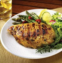 Grilled Citrus Chicken: Juicy grilled chicken deliciously infused with flavor from the citrus-garlic marinade