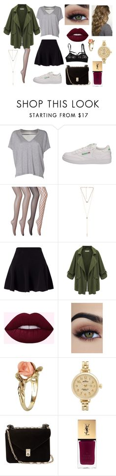 """fishnets set"" by floraddict ❤ liked on Polyvore featuring Acne Studios, Reebok, 8 Other Reasons, Miss Selfridge, WithChic, Vintage, Shinola, Valentino, Yves Saint Laurent and Hanky Panky"