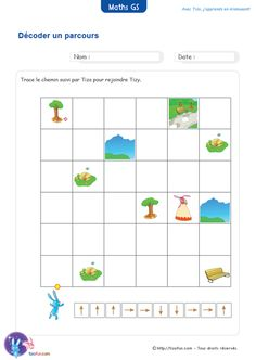 maths-grande-section-decoder-un-parcours-codes Maternelle Grande Section, Reception Class, Computational Thinking, Math Sheets, Montessori Math, Math School, Engineering Projects, Coding For Kids, Word Sorts