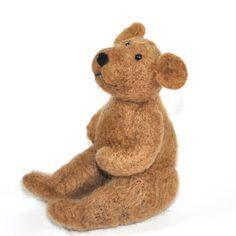 Brown Bear Needle Felting Kit - Do it Yourself craft - learn how to needle felt on Etsy, $20.00