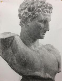 ヘルメス Drawing Sketches, Pencil Drawings, Ancient Greek Art, Figure Sketching, Anatomy, Modern Art, Sculpture, Statue, Super Hiro