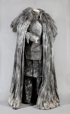 Overly large black coat with large fur over shoulders for ice king. #hungrywoods