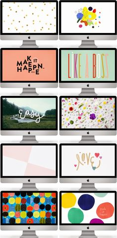 Monday mornings call for some coffee and a desktop makeover. It's time to switch things up people! I'm a huge  fan of changing the wal...