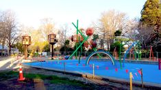 The amazing acorn village playground. Image courtesy of Creo. Acorn, Childcare, Cornwall, Playground, New Zealand, Sustainability, Centre, Fair Grounds, Park