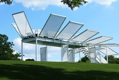 The Prairie Hopper is a Transformable Sports Pavillion - Karl was Project Architect on this for a PGA Tour stop in 2009.