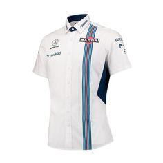 White Short Sleeve Shirt, Short Sleeves, Mens White Shorts, Martini Racing, Team Shirts, Top Designer Brands, Collar Shirts, Button Up Shirts, Menswear