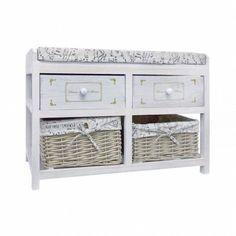 Modern Storage Bench Organizer Furniture Shoes Rack Wooden Drawers White Baskets #ModernStorageBench #Modern