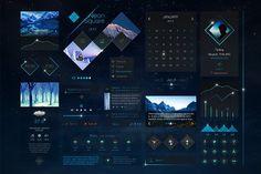 Neon Square UI Kit by tintins on @creativemarket