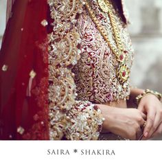 Cascading silhouettes that are perfected with delicate craftsmanship and intricately decorated with jewels and crystals #SairaShakira #SongsOfSummer #Bridals #BridalTrends #Details