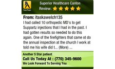 I had called 10 orthopedic MD's to get Suppartz injections that I had in the past. I had...