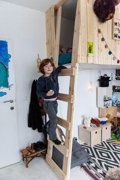 litera infantil 2 500x750 Una cabaña en el dormitorio infantil
