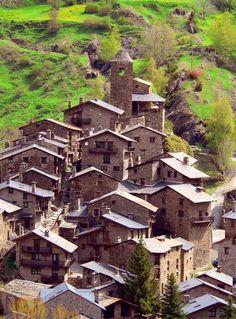 Espagne/Andorra, le vieux  village de l'Os de Civis, LLeida  Catalonia