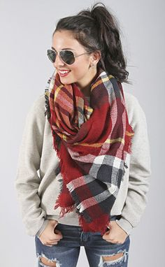 stay warm in this adorable and cozy oblong scarf!