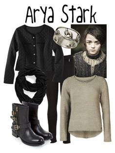 """Arya Stark -- Game of Thrones"" by evil-laugh ❤ liked on Polyvore featuring ONLY, Tasha, GameOfThrones, HouseStark and AryaStark"