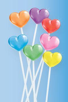 Twinkle Pops® - HEART (Mixed) Heart Lollipops [C00TC01] - $9.00 : ::::::::::::: Twinkle Candy Home Page ::::::::::::
