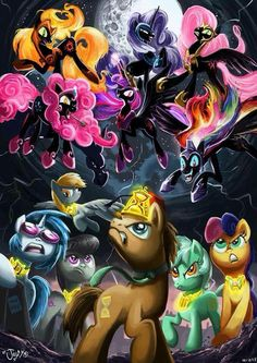 Background mane 6 vs the 6 nightmares