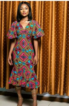 Modern Ankara Styles for Ladies To Rock African Print Dresses, African Fashion Dresses, African Dress, Ankara Dress, Fashion Outfits, African Prints, Women's Fashion, Fashion Tips, African Attire