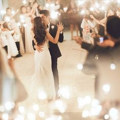 """Looks like we just can't get enough for a romantic wedding picture! Swooning over this remarkable first dance shot by @kelseaholderphoto that is filled…"""