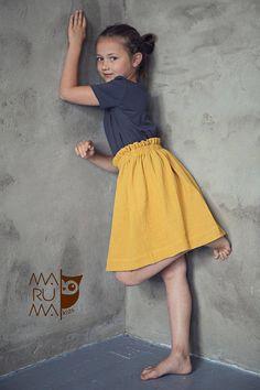 Röcke -  Mädchen Röcke aus Muslin,  - ein Designerstück von MarumaKids bei DaWanda