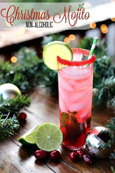 Christmas Mojito | Non-Alcoholic Holiday Drink Recipes For All To Enjoy